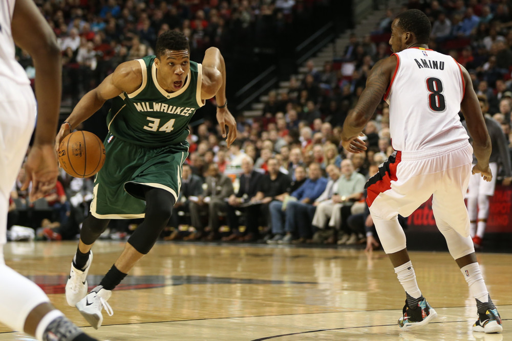 NBA: FEB 02 Bucks at Trail Blazers